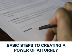 Basic steps to create a power of attorney image